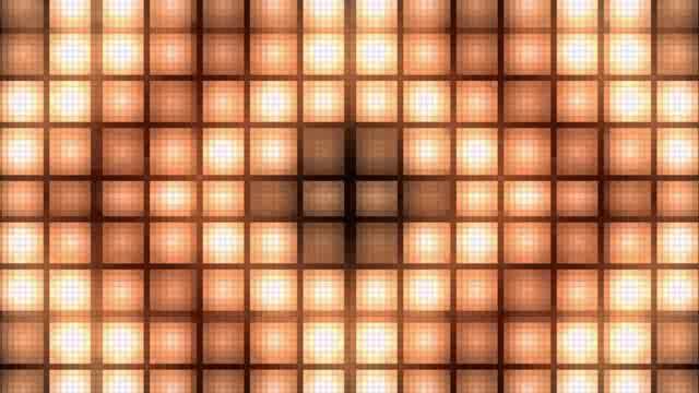 LED黄色方块颗粒灯光视频素材
