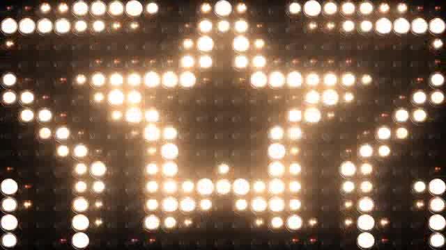LED五角心矩阵灯光视频素材