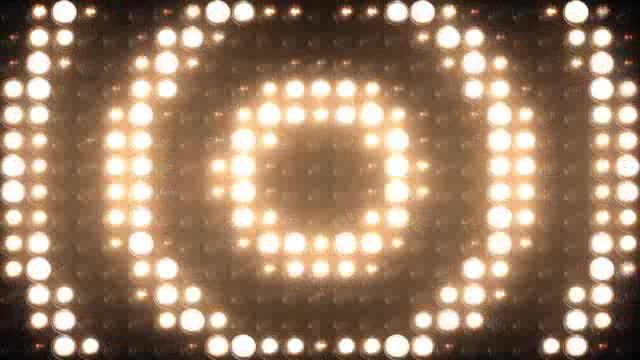 LED幕圆形矩阵灯光视频素材
