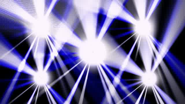 LED蓝色爆闪摇滚节奏灯光视频素材