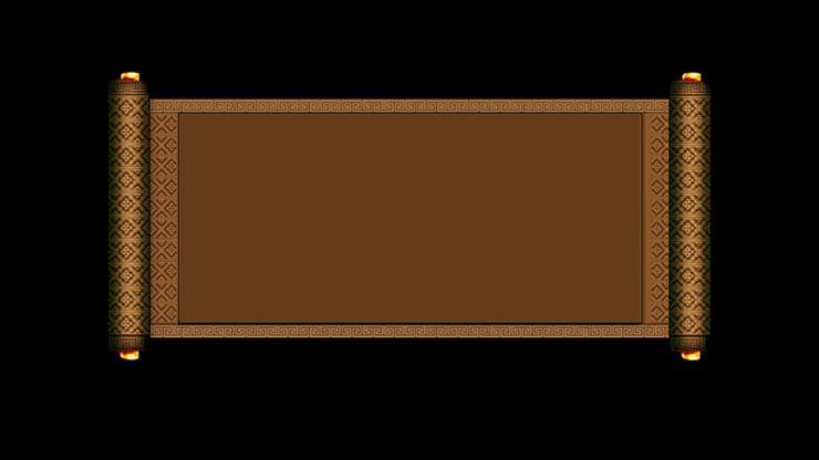 画轴展开动态视频(带通道)