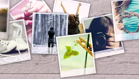 AE照片坠落爱的写真电子相册视频模板