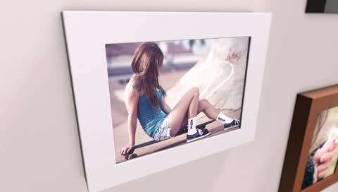 AE爱情写真图片墙电子相册模板