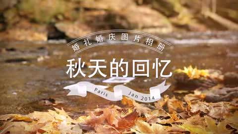 AE秋天枫叶实景婚礼电子相册视频模板