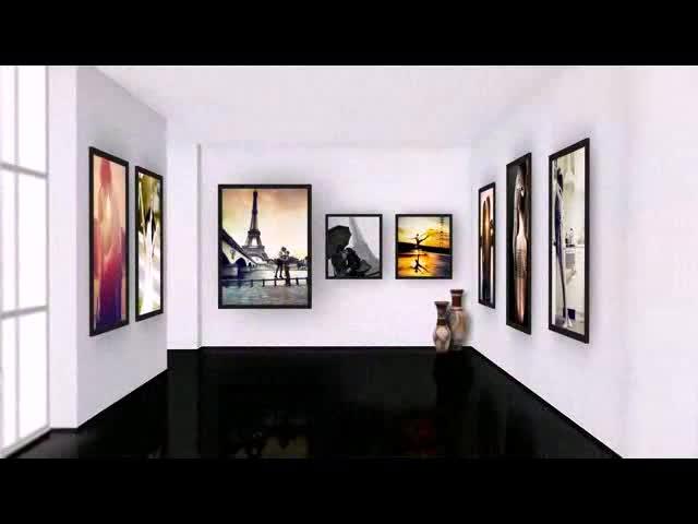 AE艺术画廊婚礼电子相册视频模板