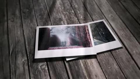 AE唯美照片坠落写着相册视频模板