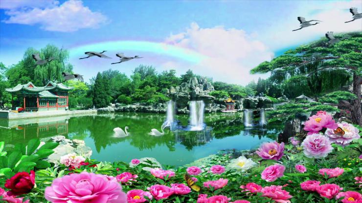 唯美风景青山绿水视频