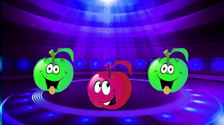 动感卡通小苹果LED视频