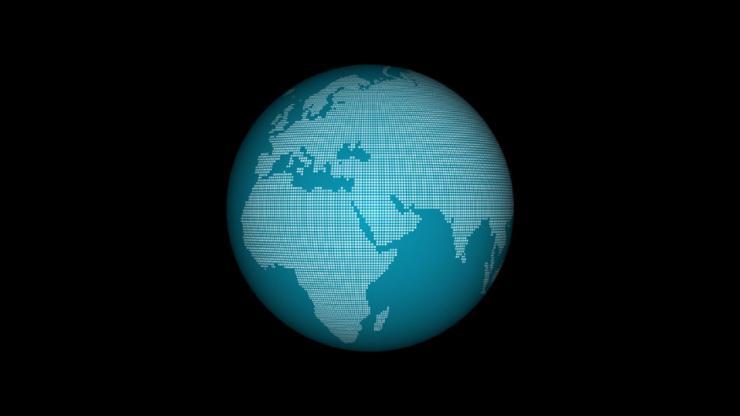 地球动态视频素材(带通道)