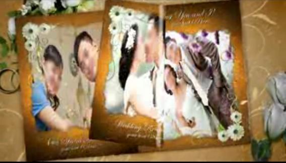 爱情回忆录婚礼AE模板