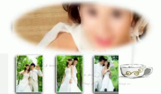 唯美婚礼相册会声会影X6模板