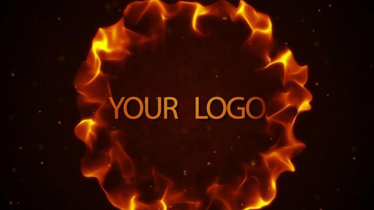 大气火焰扩散LOGO演绎AE模板