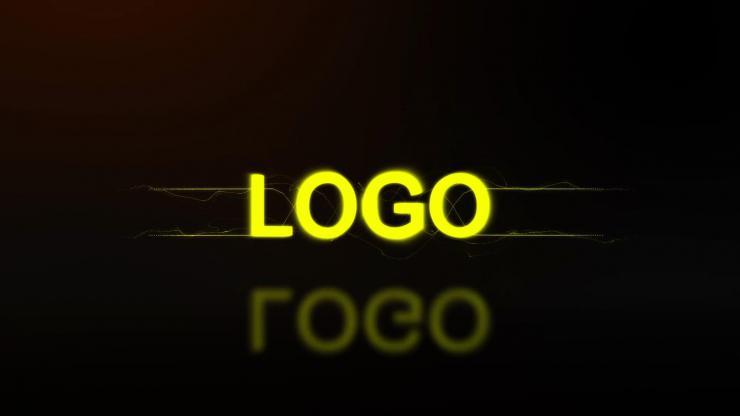大气金色光线LOGO演绎AE模板