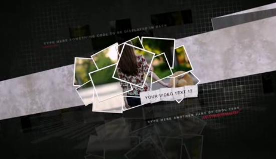 AE时尚动态拼图婚礼电子相册视频模板
