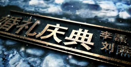 AELOGO三维电影级雪中浪漫婚礼开场