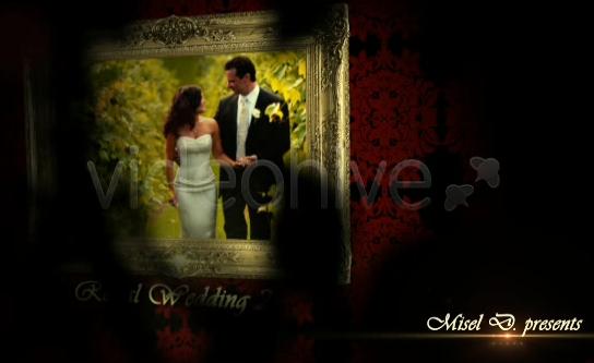 AE金色闪光婚礼电子视频模板