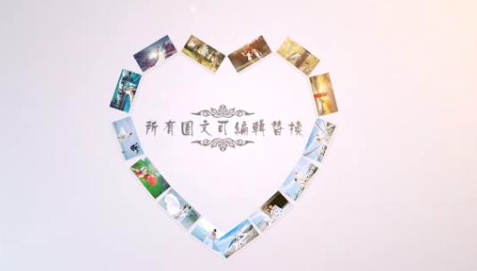 AE浪漫唯美系婚礼纪念相册视频模板
