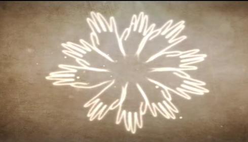 中国风五指莲花LED视频素材