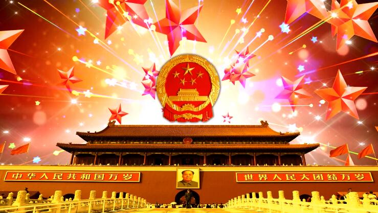 天安门国歌中华民歌LED视频素材