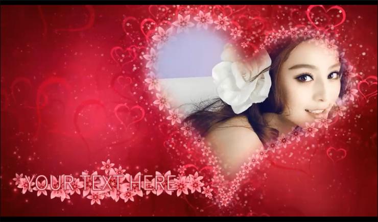 唯美浪漫红色玫瑰相册