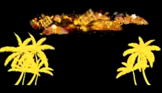 西域波斯风情穆斯林沙与海人屏互动秀晚会舞台视频专用素