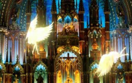 唯美教堂精灵飞舞 婚礼婚庆LED大屏幕视频动态舞台素材