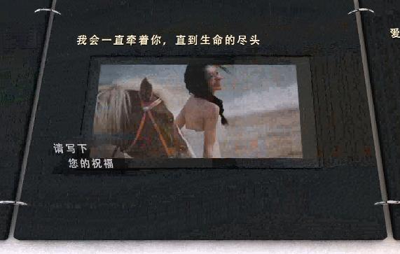 AE浪漫画册相框婚礼视频模板
