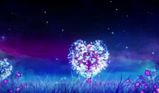 唯美星空树浪漫夜空 爱情树 婚礼婚庆LED素材 VJ秀