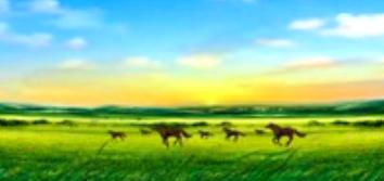 内蒙古大草原蓝天马羊火辣歌舞 LED大屏幕晚会舞台素材