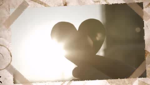 AE复古书籍爱情婚礼纪念相册视频模板