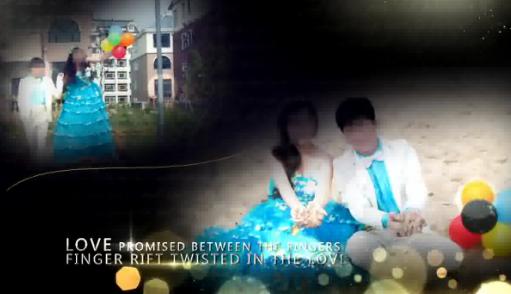 AE温馨浪漫金色流体婚礼相册视频模板