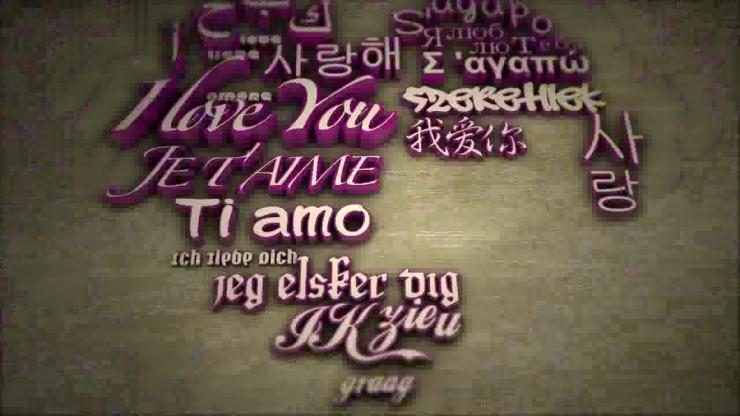 AE爱的文字婚礼相册视频模板