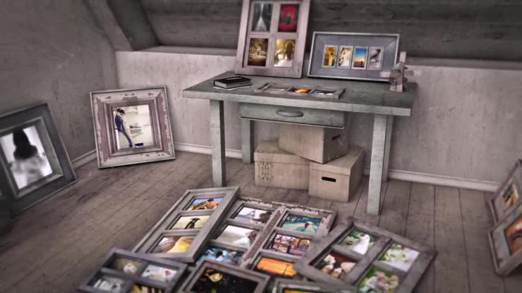 AE复古古老相框温馨婚礼相册视频模板