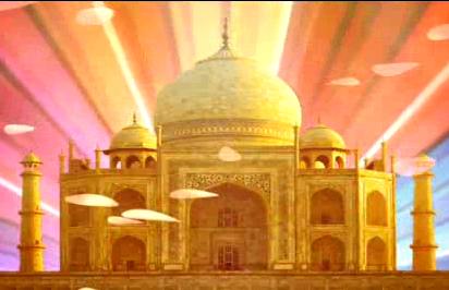 印巴宫殿热舞LED晚会背景视频素材