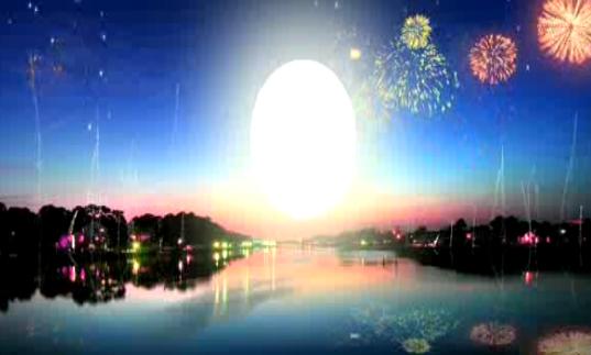 夜空中烟火绽放LED晚会背景视频素材