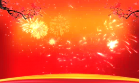 喜庆节日烟花LED晚会背景视频素材