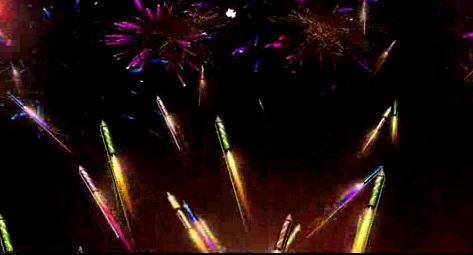 五彩升空炫丽LED晚会背景视频素材