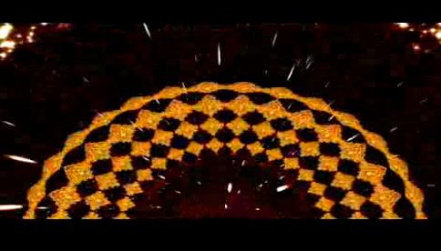 丝绸之路人屏互动LED晚会背景视频素材