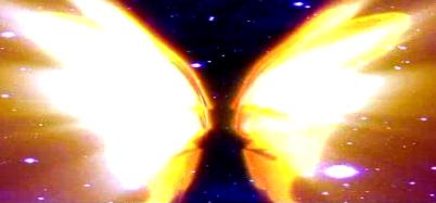 金色一对翅膀LED晚会背景视频素材