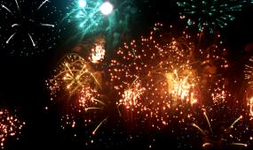 炫丽夜空礼花LED晚会背景视频素材