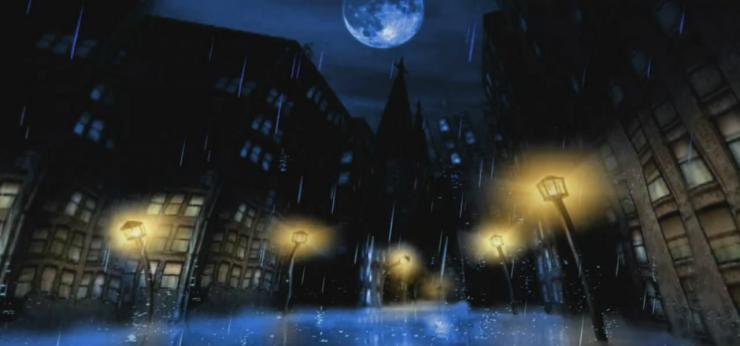 如果这就是爱情月色抒情 唯美路灯街道