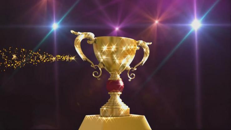 企业公司年会3D颁奖金杯