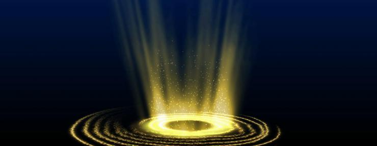大气魔法粒子光圈视频