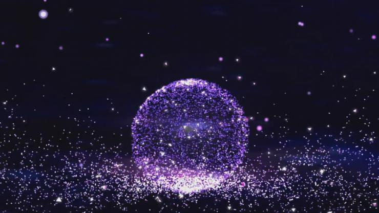粒子汇聚 粒子雨球体转动高端婚礼婚庆素材