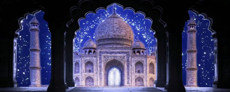 印度泰姬陵欧美风情 3D 高端婚礼LED大屏幕