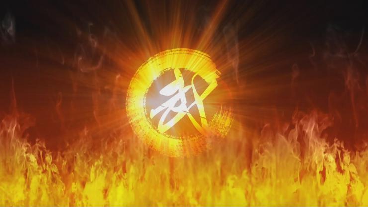 火焰武术功夫舞台视频素材