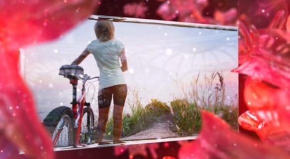 AE动感水晶花瓣电子相册婚礼视频模板