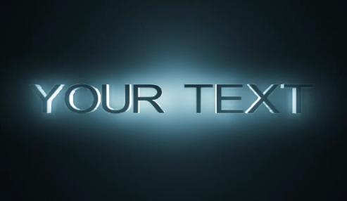 3D立体文字logo视频模板