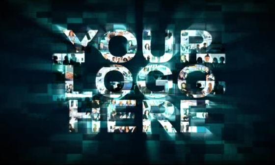 AE照片汇聚LOGO视频模板