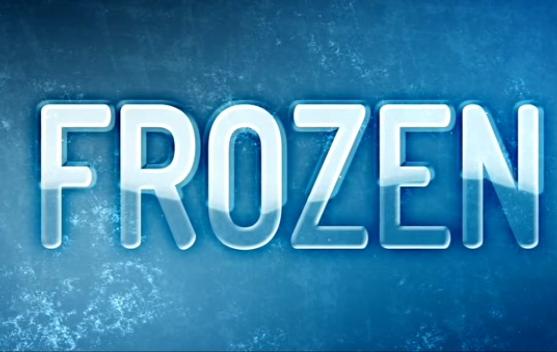 AE冰冻质感文字展示视频模板